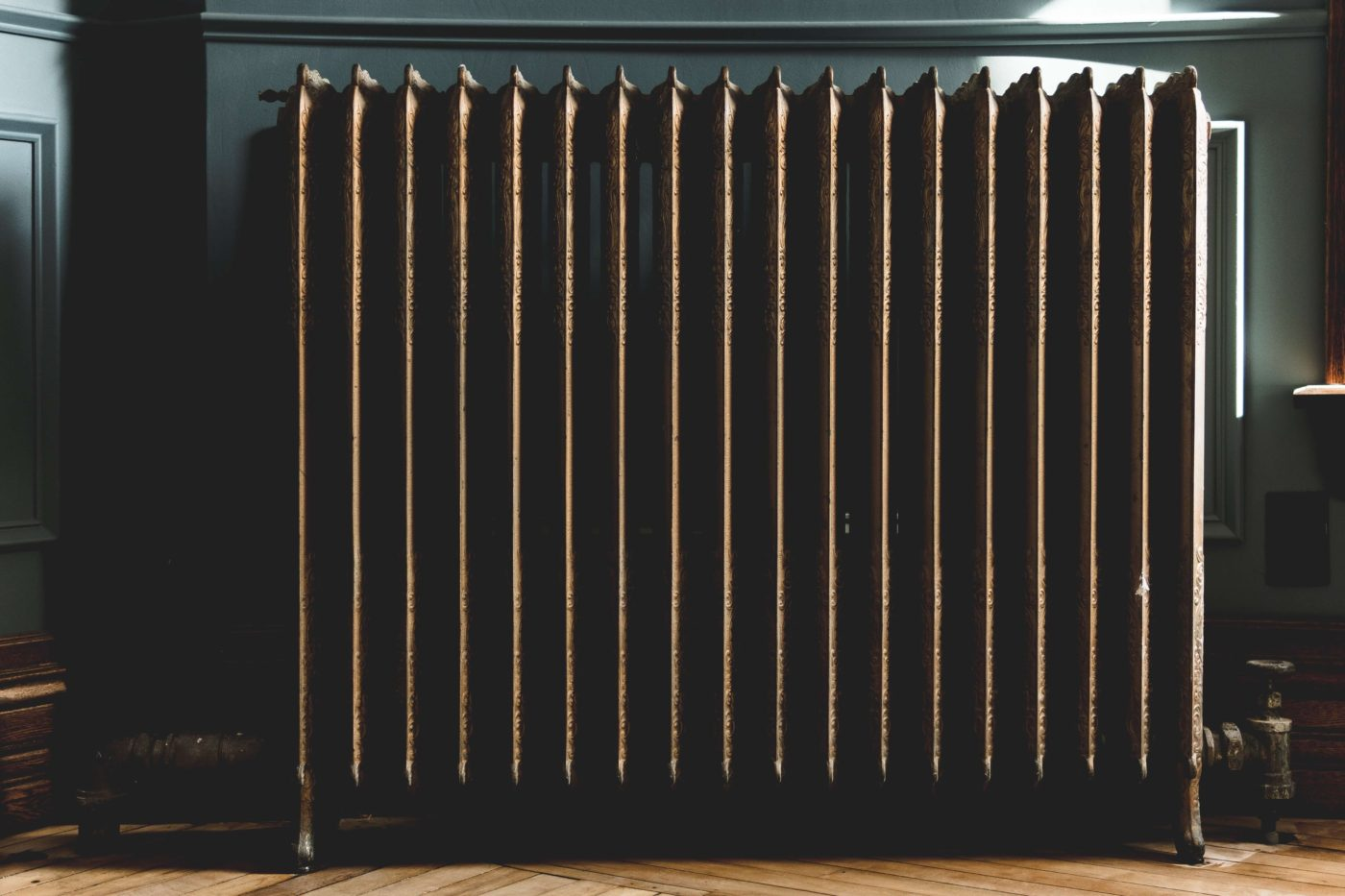 heating radiator in a home