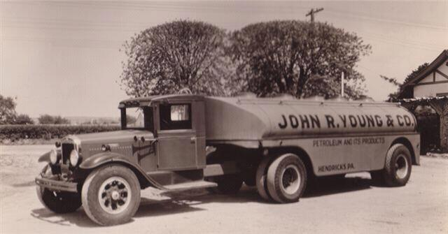 old young's home comfort oil delivery truck