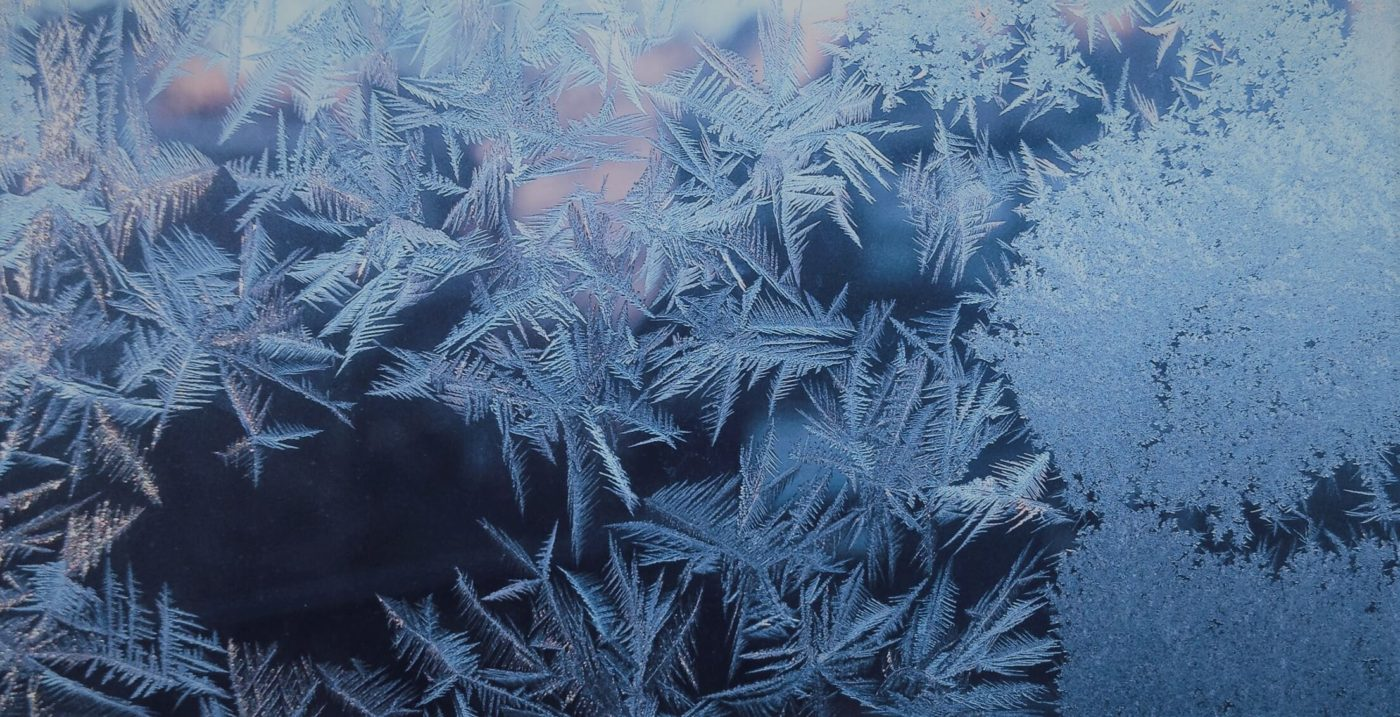 snowflakes on a window